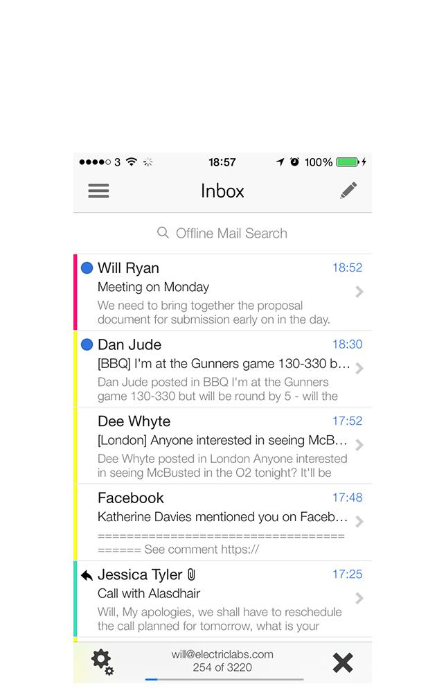 Offline Mail iPhone Screenshot